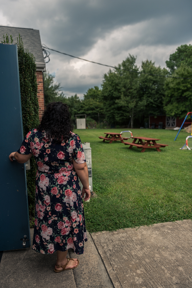 Greensboro, North Carolina, 2018Juana watches a storm approach from the back door of her sanctuary space.