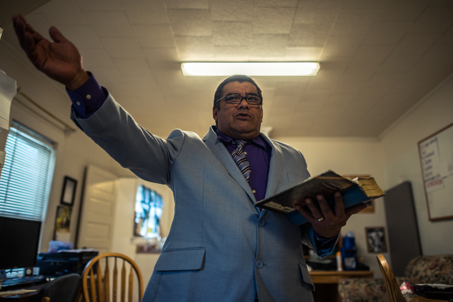 Durham, North Carolina, 2018These are the most exciting days of the month for José.  A pastor at a church in Raleigh, North Carolina, preaching is his passion.  Now in sanctuary, his congregation must travel to Durham to hear his sermon.