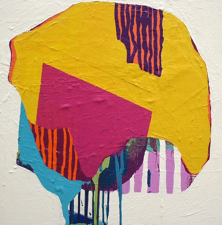Burst2015. Acrylic on Canvas20 x 20 in.