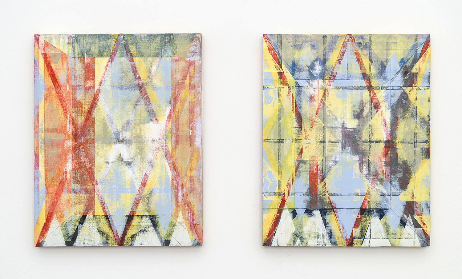 Paolo AraoYou x Me = Infinity (Diptych), 2015Acrylic on birch panelsEach: 14 x 11 inches(35.6 x 27.9 cm)
