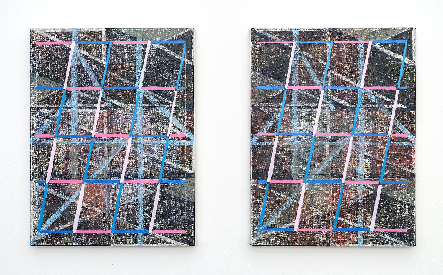 Paolo AraoLet's Get Digital (Diptych), 2015Acrylic on canvas over panelsEach: 16 x 12 inches(40.6 x 30.5 cm)