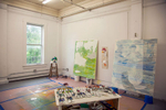 Ruth Freeman's Studio, during her residency at the Vermont Studio Center, June, 2015