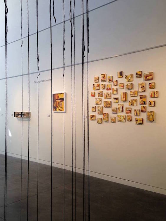 Installation View, Seren Moran's Work Featured in the Group Exhibit, Transfer, atLouie Meager Gallery at Ohlone College. Fremont, CA, August - October 2014.
