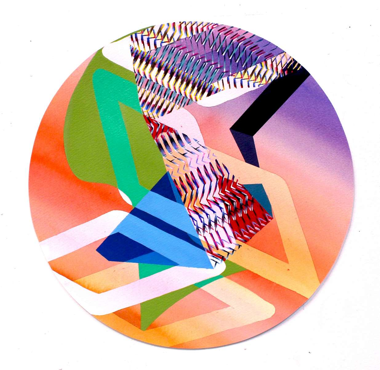 Vanessa IrzykNavigate, 2016Acrylic on watercolor paper17.25 inches in diameter