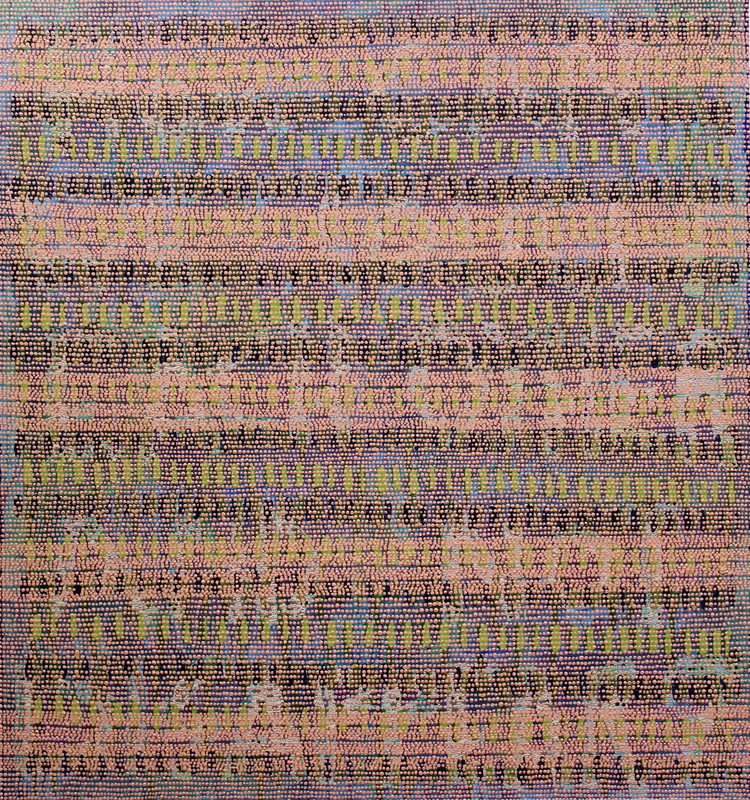 Kevin LuceyGhost Story, 2016Fabric and acrylic on panel36 x 34 inches