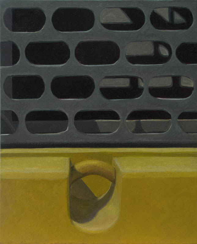 Altoon SultanBlack Lozenges7 x 5 1/2 inchesegg tempera on calfskin parchment stretched on panel