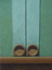 Altoon SultanTwo Circles9 x 6 3/4 inchesegg tempera on calfskin parchment stretched on panel