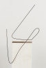Brion Nuda RoschHistory of Mankind as Illustrated by a Line Chart / 2012 / found wire / 24 x 30 x 15{quote}