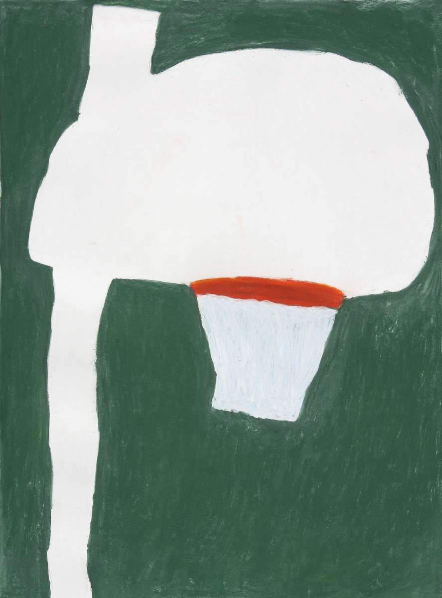 Daniel GalasBasketball Hoop (2010)soft pastels on Rives bfk paper 30{quote} x 22{quote}