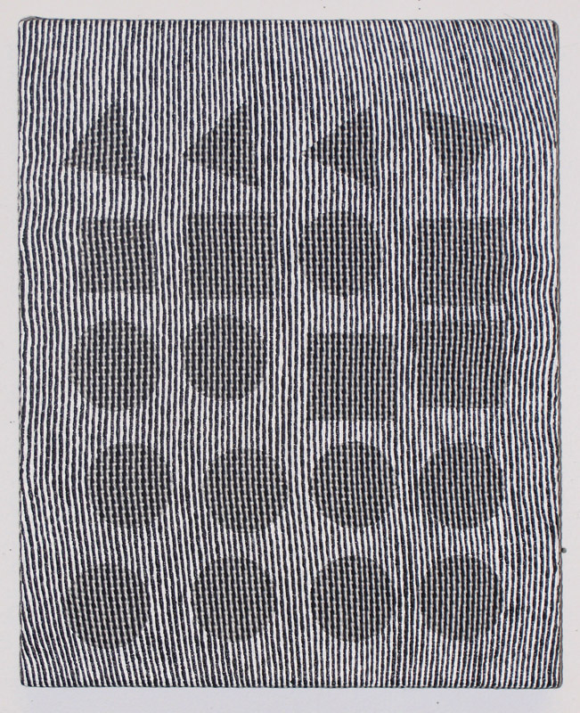 Samantha BittmanZebra 4 / 2009acrylic on hand-woven textile / 15 x 12{quote}