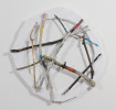 Bob JonesDreamcatcher / 2011Ethafoam, sticks, oil, acrylic and enamel5.5{quote} diameter