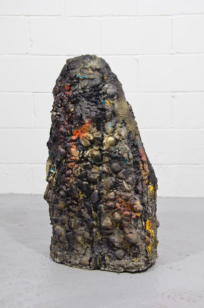Bob Jones Grotto / 2011 / oil, spray paint, concrete and stone / 31 x 18 x 13{quote}