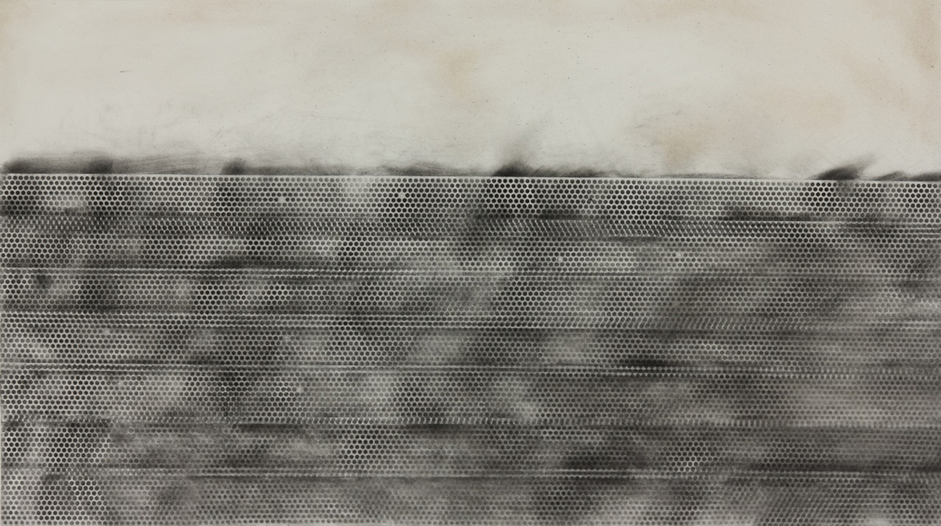 Charcoal and incense ash on Rives BFK paper30 x 44 in.
