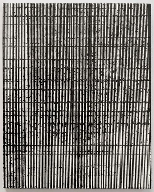 Interference IV25 x 20 cm.Enamel and acrylic on wood