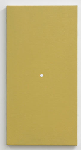 Untitled (yellow of grey)20 x 10 in.Acrylic gel medium and molding paste on canvas