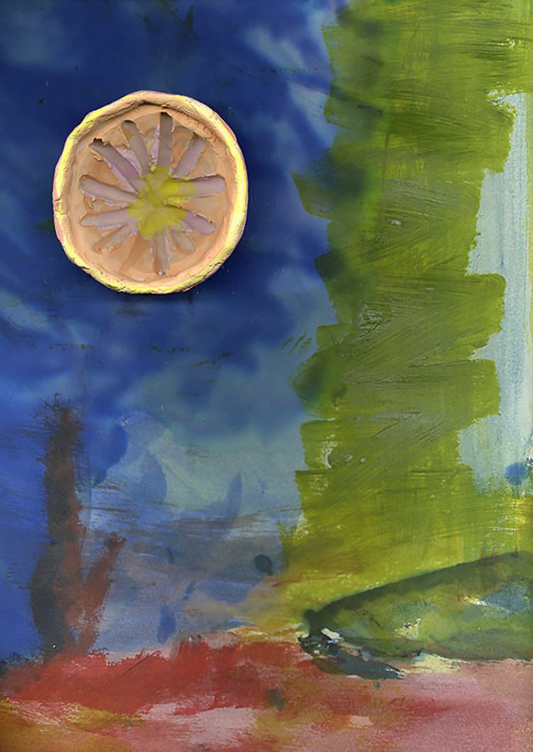 from a grapefruit and a painting series
