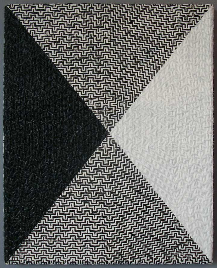 Samantha BittmanX / 2011acrylic on hand-woven textile / 15 x 12{quote}
