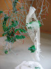 hand-cut mylar, drinking straws, pipe cleaners, paper, monofilamentapprox. 12 x 8 x 8 in.