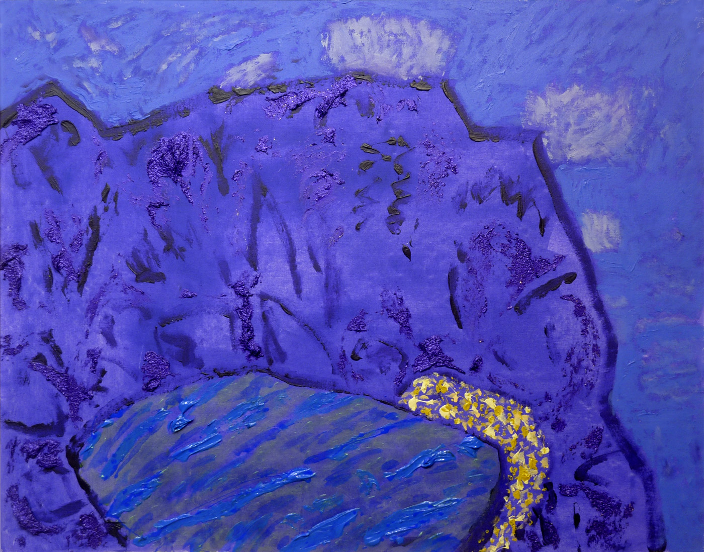 "Scott BennettMountain Lake (2014)acrylic on canvas 37.25"" x 47{quote}"