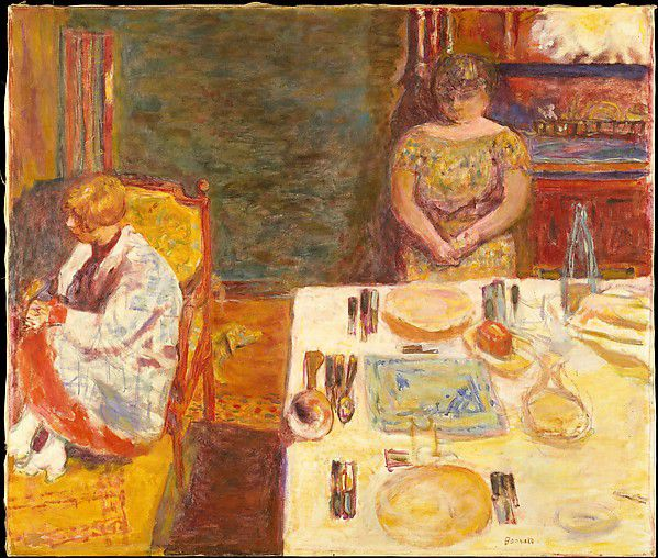 Pierre BonnardBefore Dinner (1924) Oil on Canvas