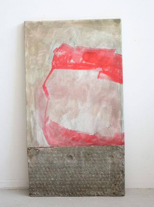 Sarah McNultyM (II)201240 x 31 cmgouache on linen on concrete