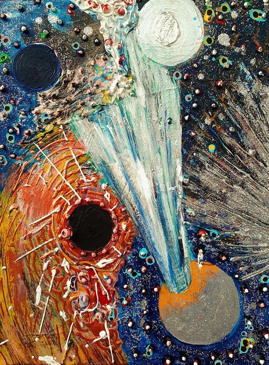 Acrylic and glitter on canvas40 x 30 cm.