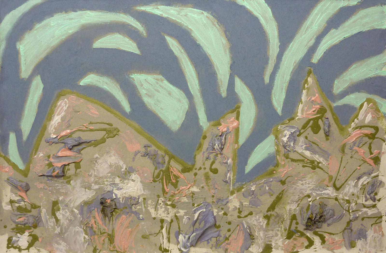 "Scott BennettSpring Dance (2015) acrylic on canvas 23.5"" x 35{quote}"