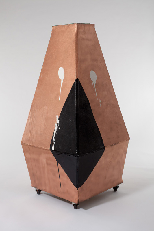 Tatiana BergBig Top Tent / 2011enamel on canvas, wood, casters61 x 27 x 27{quote}