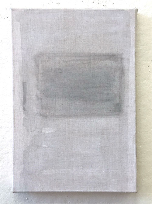 the way 410 x 7 in.Sumi ink and gesso on linen