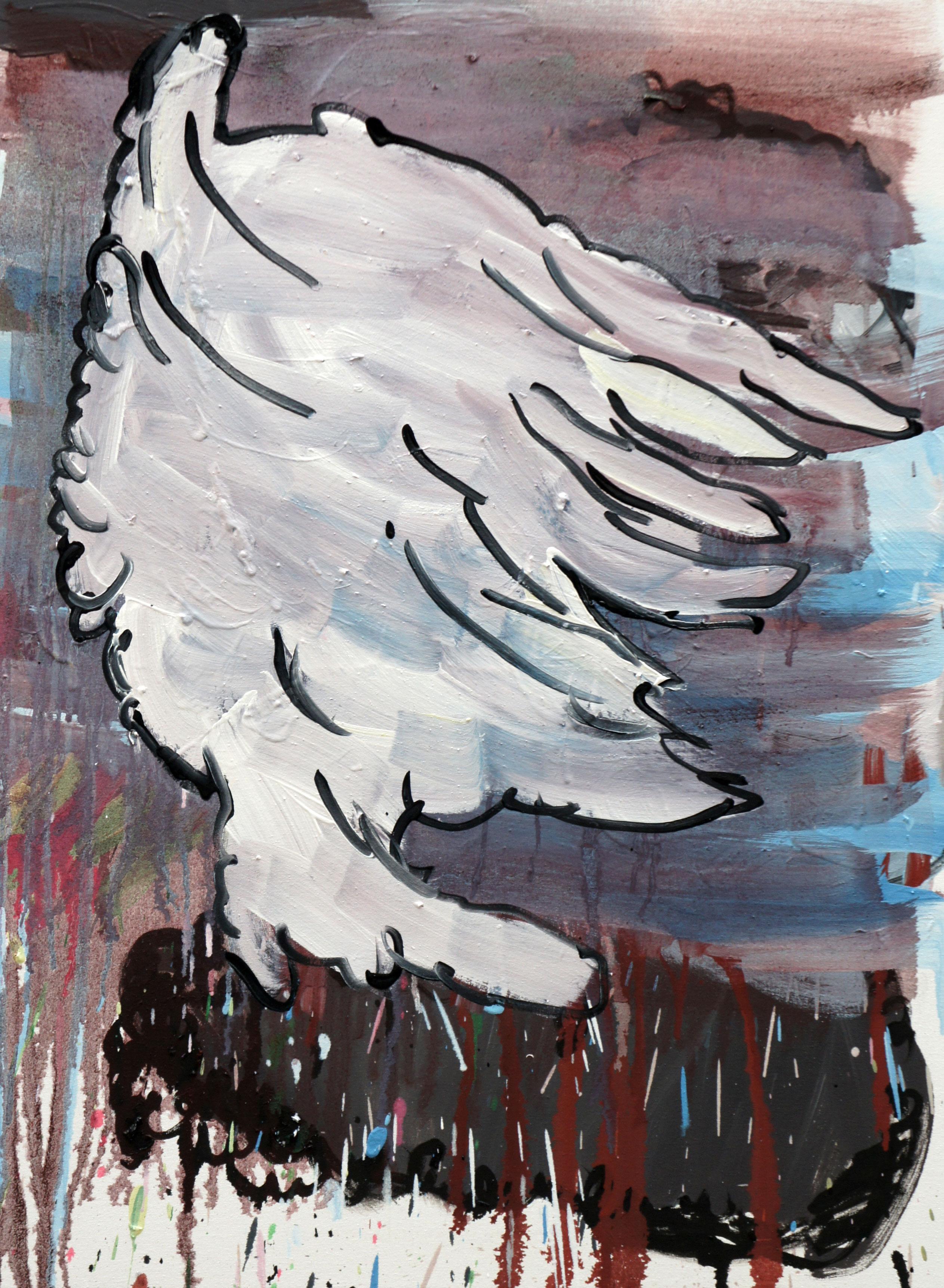 80 x 60 cm.  oil and acrylic on canvas