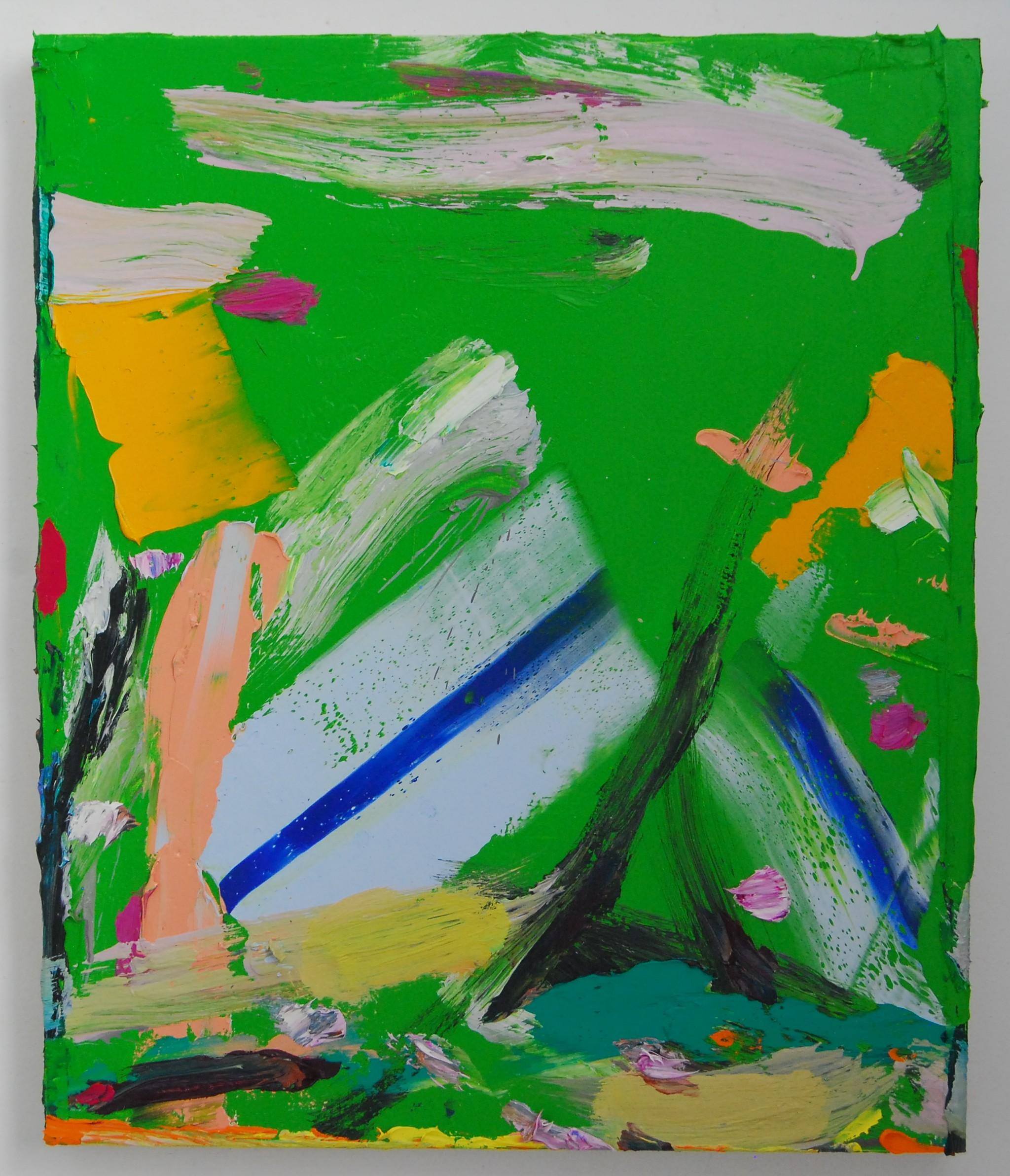 oil on panel55 x 46 x 4 cm