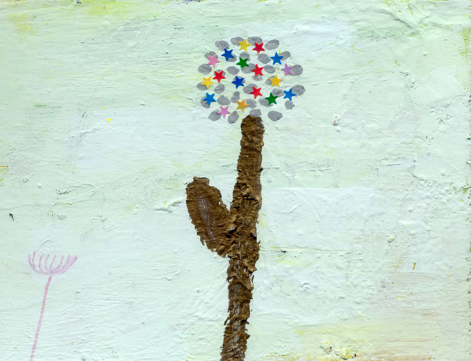 "Aimi SakataUntitledplate, acrylic gouache, colored pencil, crayon, pen 5.71"" x 7.48"""