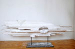 Hydrocal, salt, fiberglass, steel24 x 80 x 16 in.