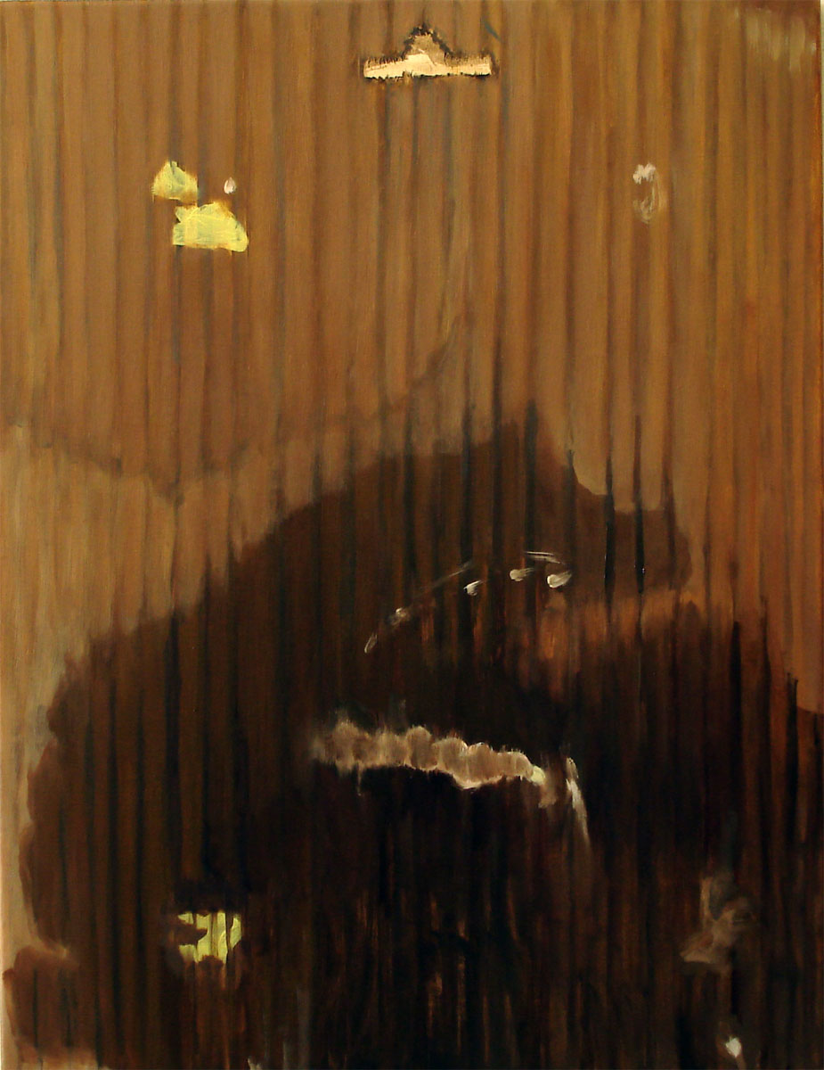 Carey Lin18 months of leaked jars (back) / 2011oil on canvas / 26 x 22{quote}