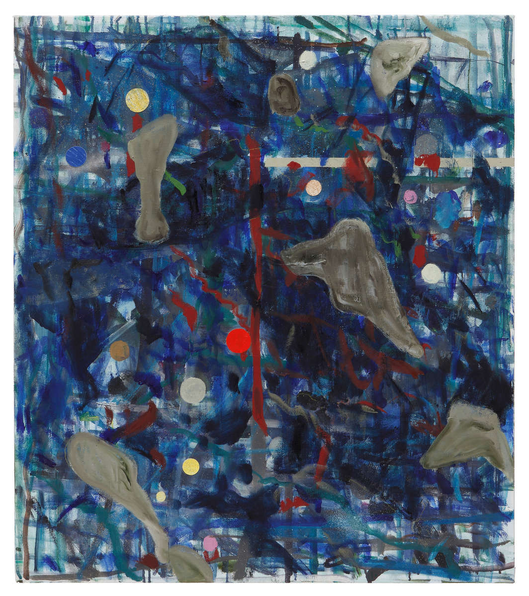 Oil and collage on linen82 x 72 in.