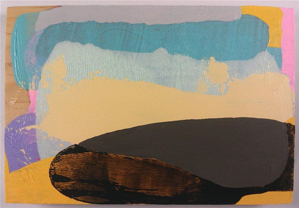 Acrylic on pine panel5.5 x 8 in.