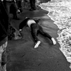 nov. 1, 2015. a body is washed ashore at a beach in lesbos, greece.