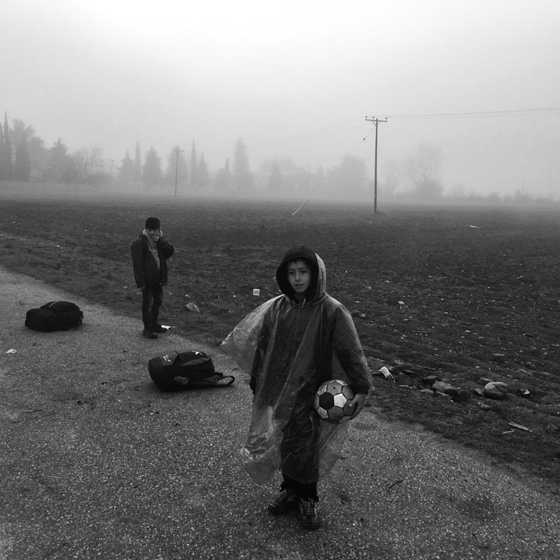march 4, 2016. inside the idomeni refugee camp, greece.