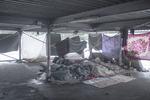 Refugees use an open air garage as shelter, Belgrade, Serbia, Jan. 18, 2017.