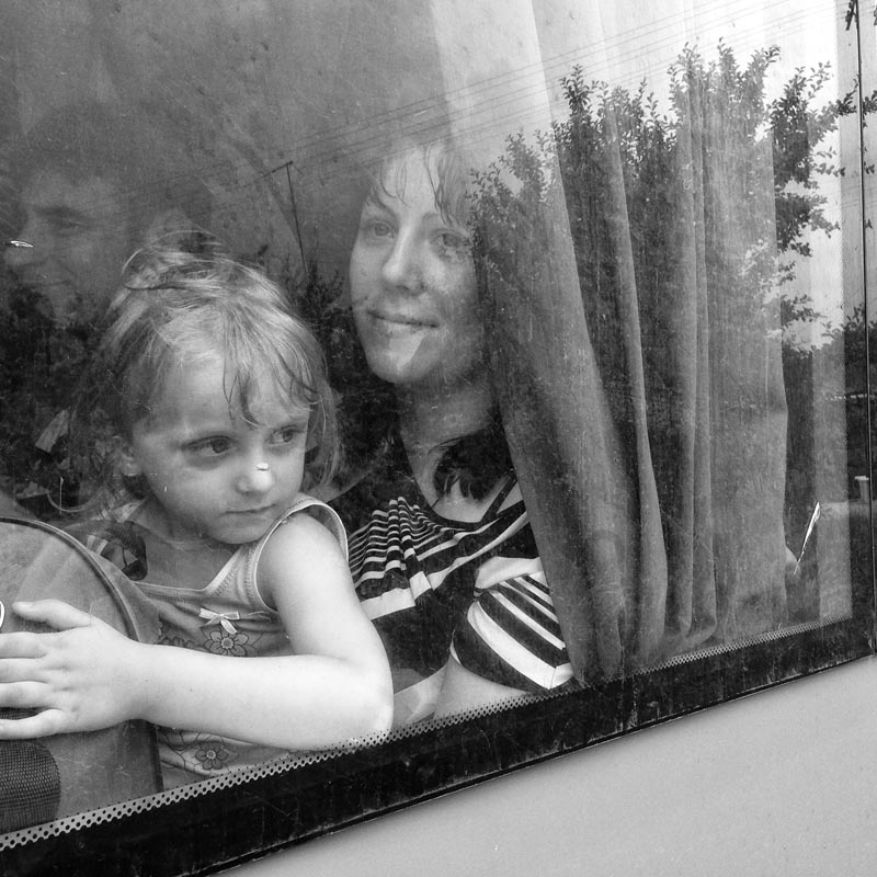june 9, 2014. getting out of slovyansk, ukraine. three hour drive in a's van.