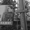june 14, 2014. a billboard depicting stalin, gorlovka, ukraine. phone rings at 7am. boss says huge plane went down around lugansk.