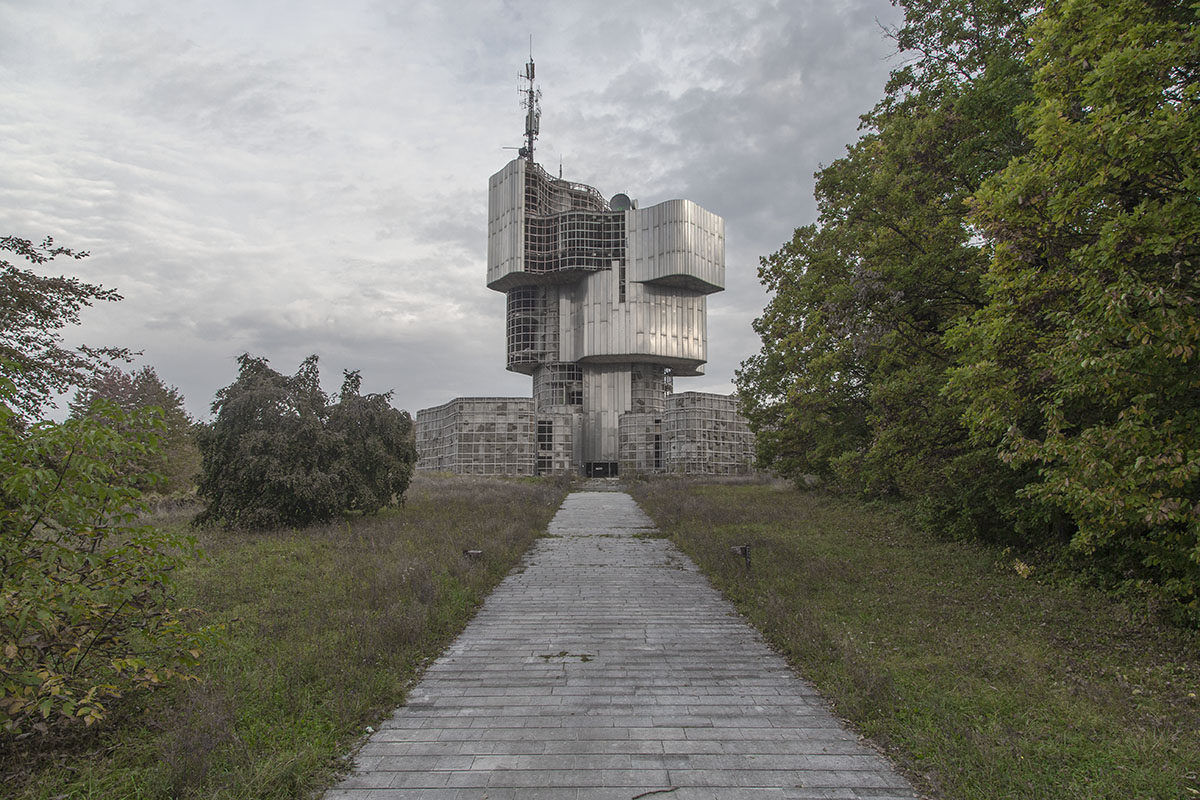 The monument to the Uprising of the People of Kordun and Banija stands in disrepair on Mt. Petrova Gora, Croatia, Oct. 16, 2018. The monument, completed in 1981, was built to commemorate the ethnic Serb uprising against the Nazi puppet state established in Croatia and Bosnia during WWII. During and after the Yugoslav wars, the structure was damaged, looted and fell into disrepair, now serving as a base for a GSM antenna.