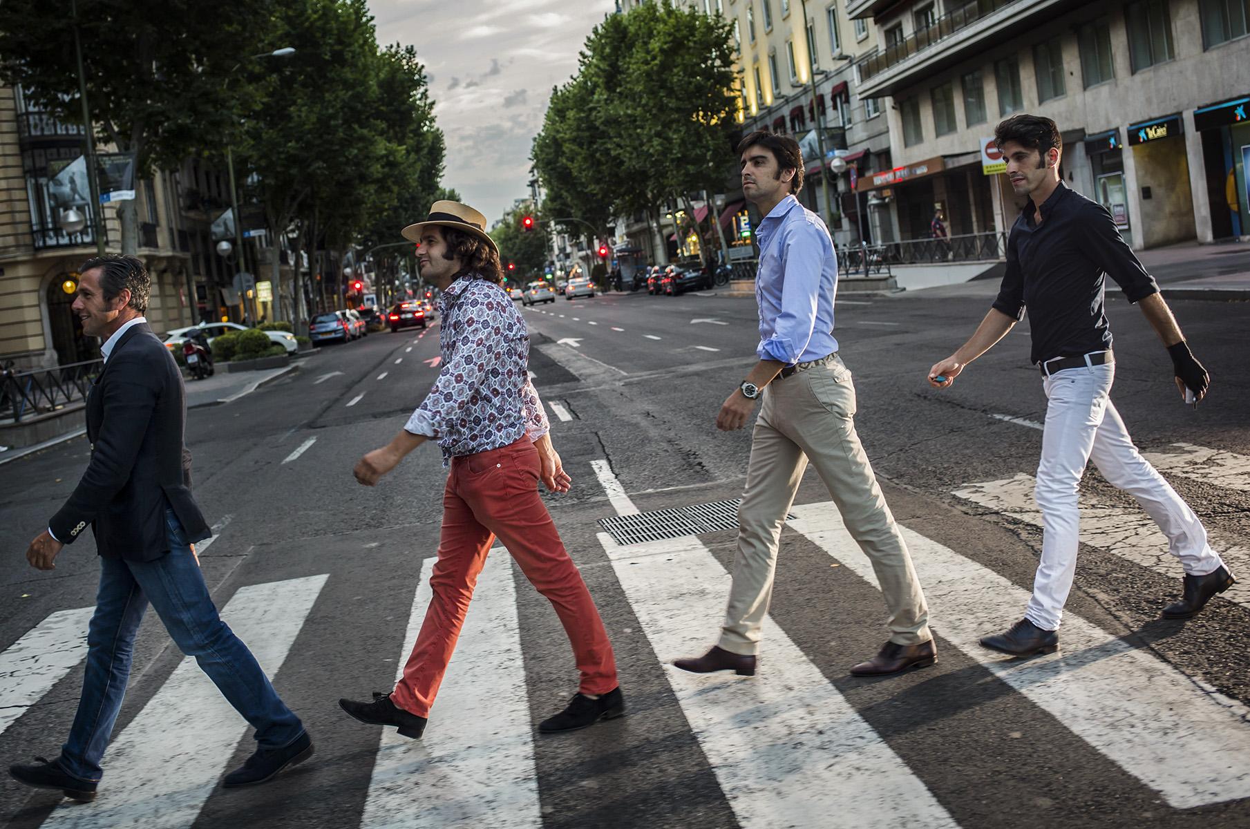 Posado Reportaje Mundo del ToreoMiguel Angel Perera + Alejandro Talavante + Jose Gomez Ortega (Joselito) + Morante de la Puebla© Alberto R. Roldan / La Razon01 07 2015