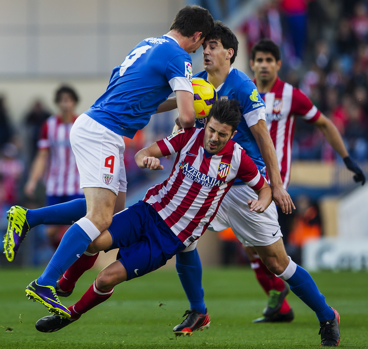 David Villa Atletico de Madrid - Athletic bilbao. Liga Española Futbol