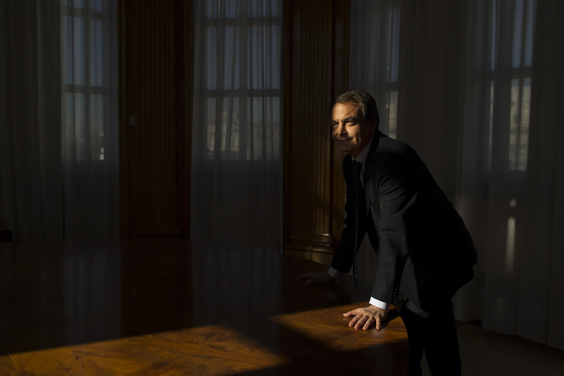 Entrevista con el Ex Presidente del Gobierno Jose Luis Rodriguez Zapatero con motivo de la presentación de su libro {quote}El Dilema{quote}© Alberto R. Roldan / La Razon29 11 2013