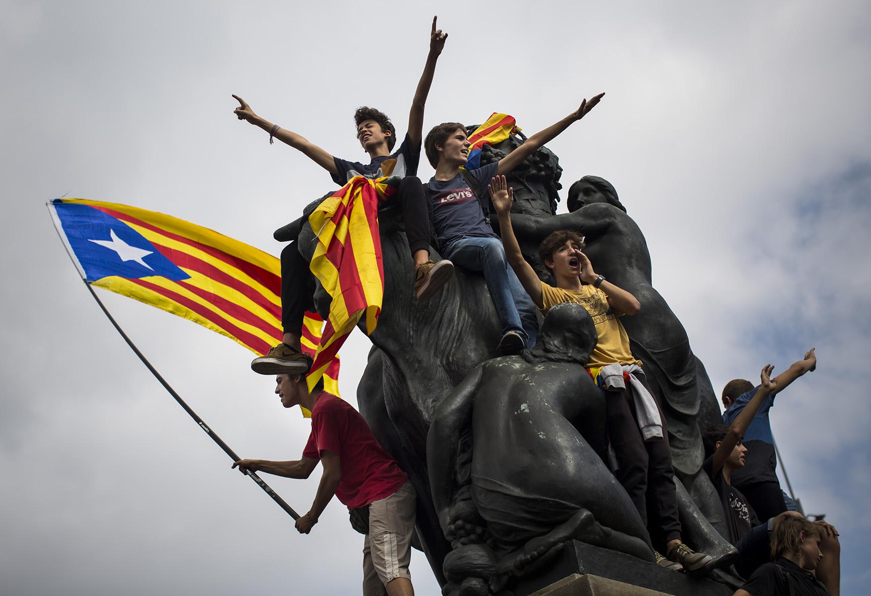 Ambiente Dia después de la Celebración del Referendum del 1-O en Cataluña© Alberto R. Roldan / Diario La Razon02 10 2017