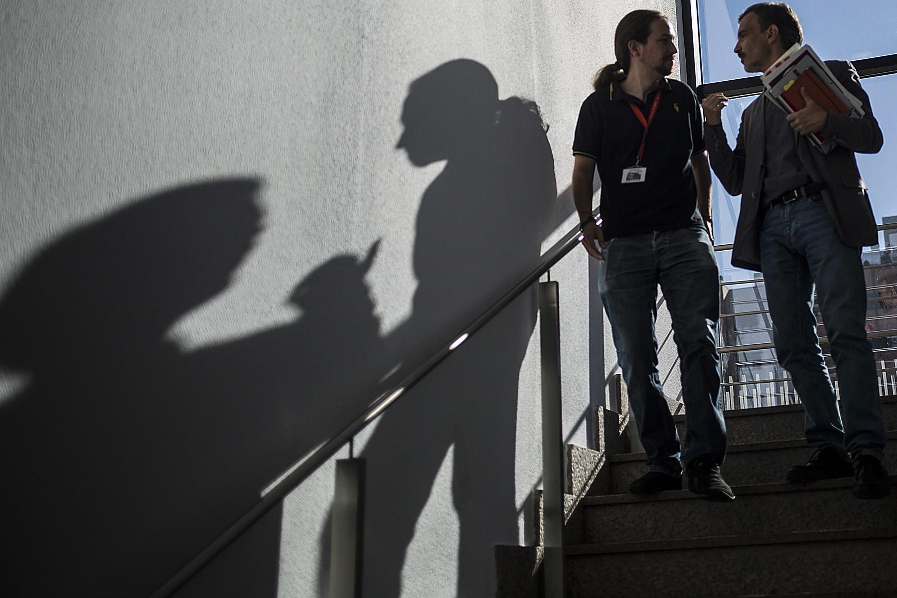 El Secretario General de Podemos, Pablo Iglesias, se reúne en la Asamblea de Madrid con representantes de los Parlamentos Autonómicos donde el partido tiene representación© Alberto R. Roldan / Diario La Razon10 09 2015