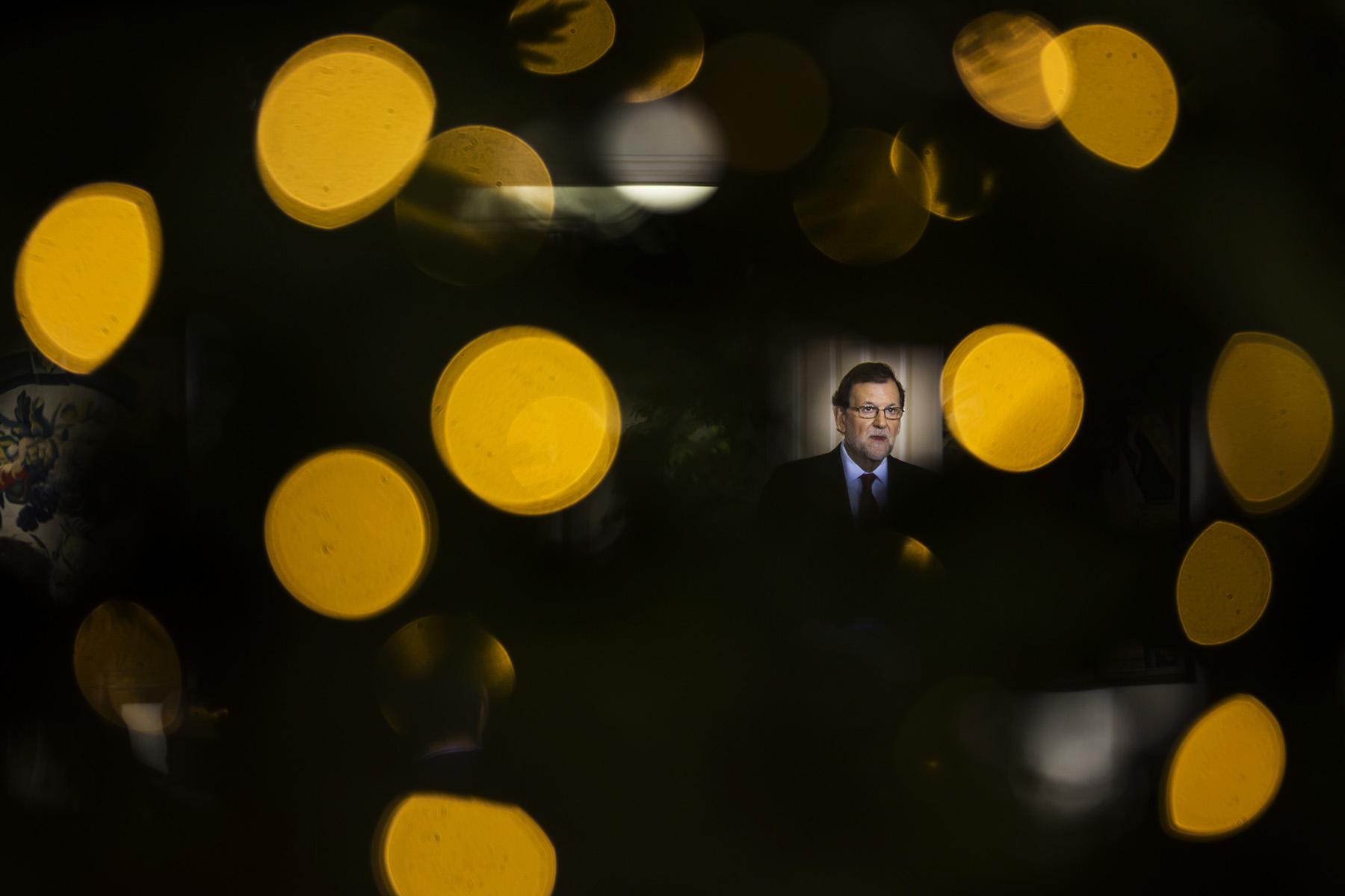 Rueda de Prensa Mariano Rajoy en el Palacio de la Moncloa donde el Presidente del Gobierno hace Balance del Año©  Alberto R. Roldan / Diario La Razon30 12 2016