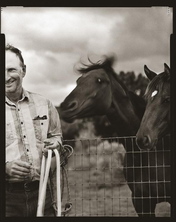 Bruce Nauman in Galesteo, New Mexico. Innova Fibre print