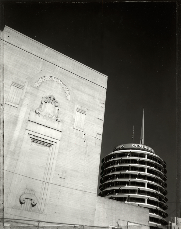 The Pantages Theatre and Capitol Records Building - Los AngelesArchival Pigment Print40{quote}x30{quote} Edition of 10 • 24{quote}x20{quote} Edition of 25